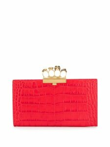 Alexander McQueen Four Ring clutch bag - Red