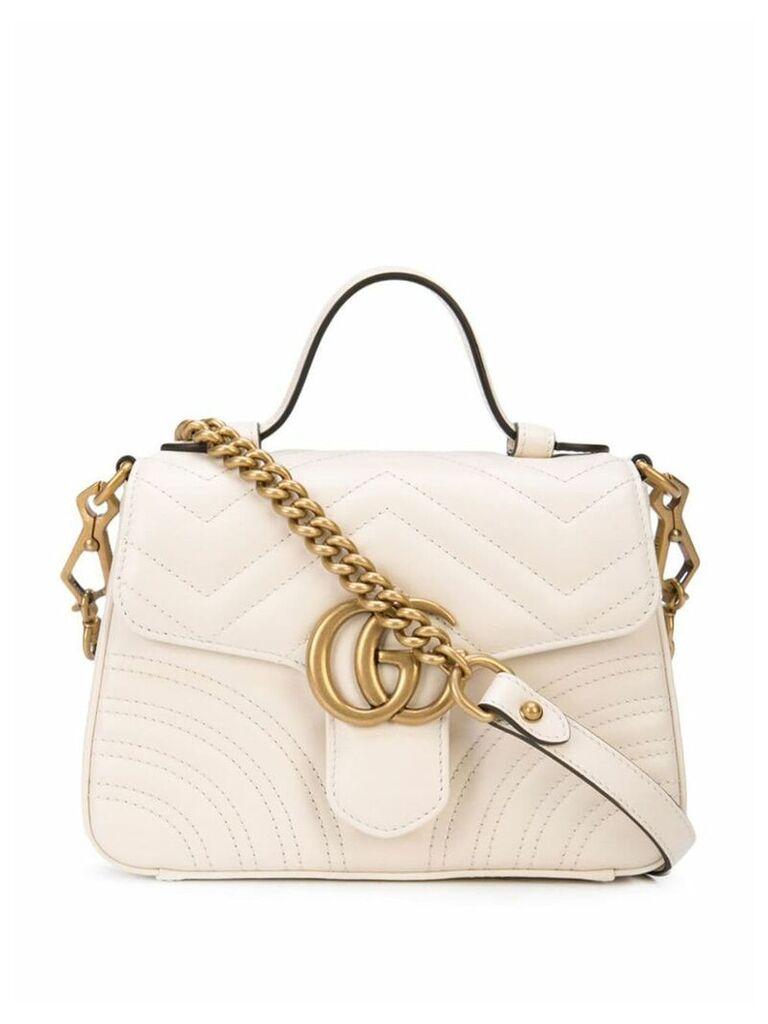 Gucci GG Marmont mini top handle bag - White