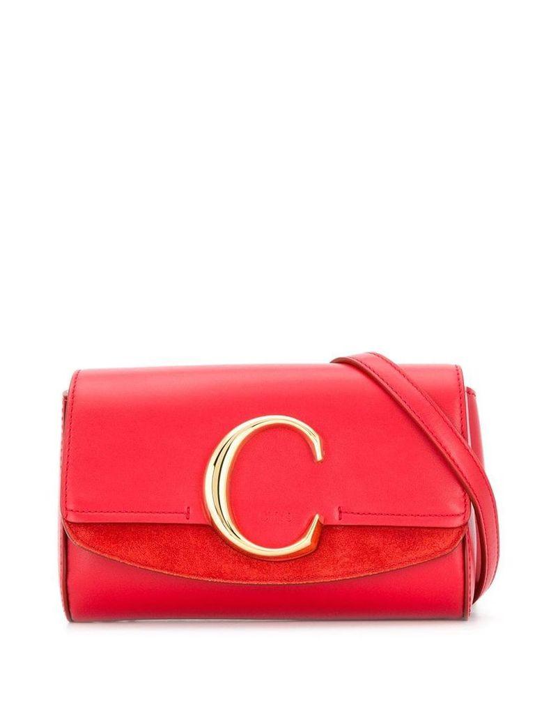Chloé C belt bag - Red