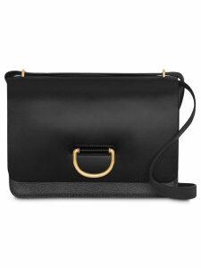 Burberry The Medium Leather D-ring Bag - Black