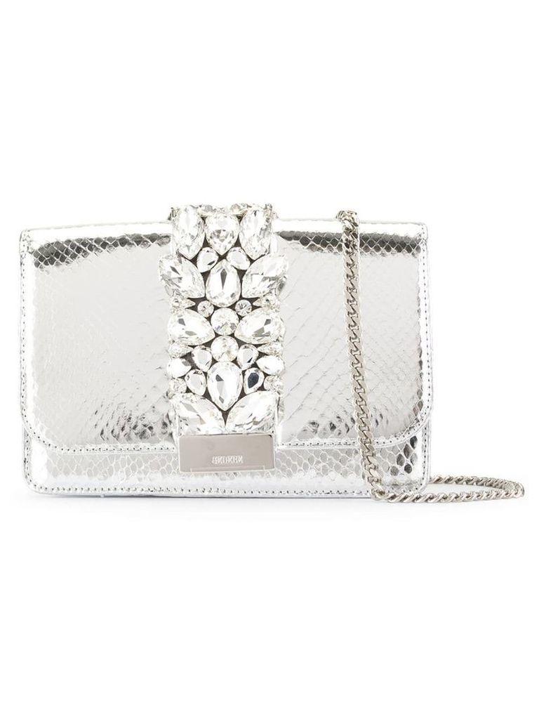 Gedebe crystal tote bag - White