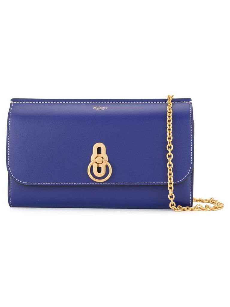 Mulberry smooth Amberley clutch - Blue