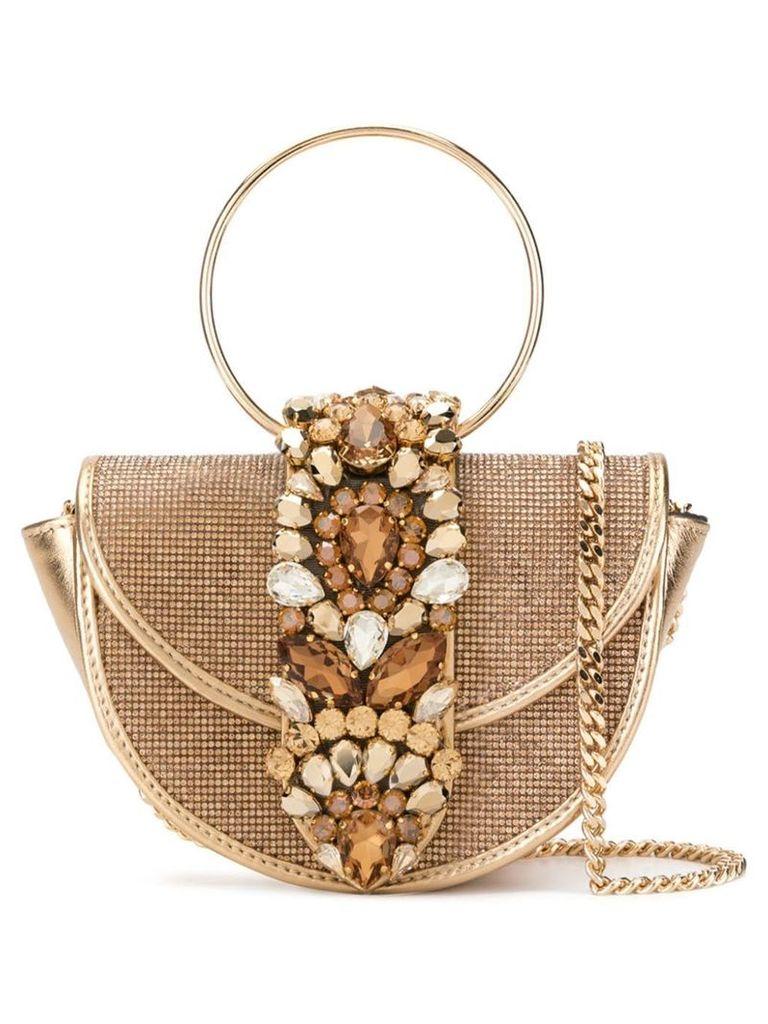Gedebe Brigitte crystal Topaz bag - Gold