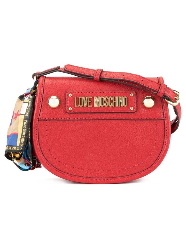 Love Moschino cross body bag with scarf - Red