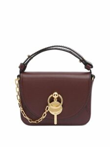 JW Anderson BURGUNDY NANO KEYTS BAG - Brown