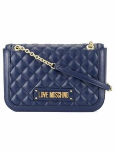 Love Moschino soft quilted shoulder bag - Blue