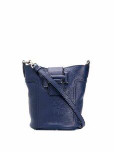Tod's double-T bucket bag - Blue