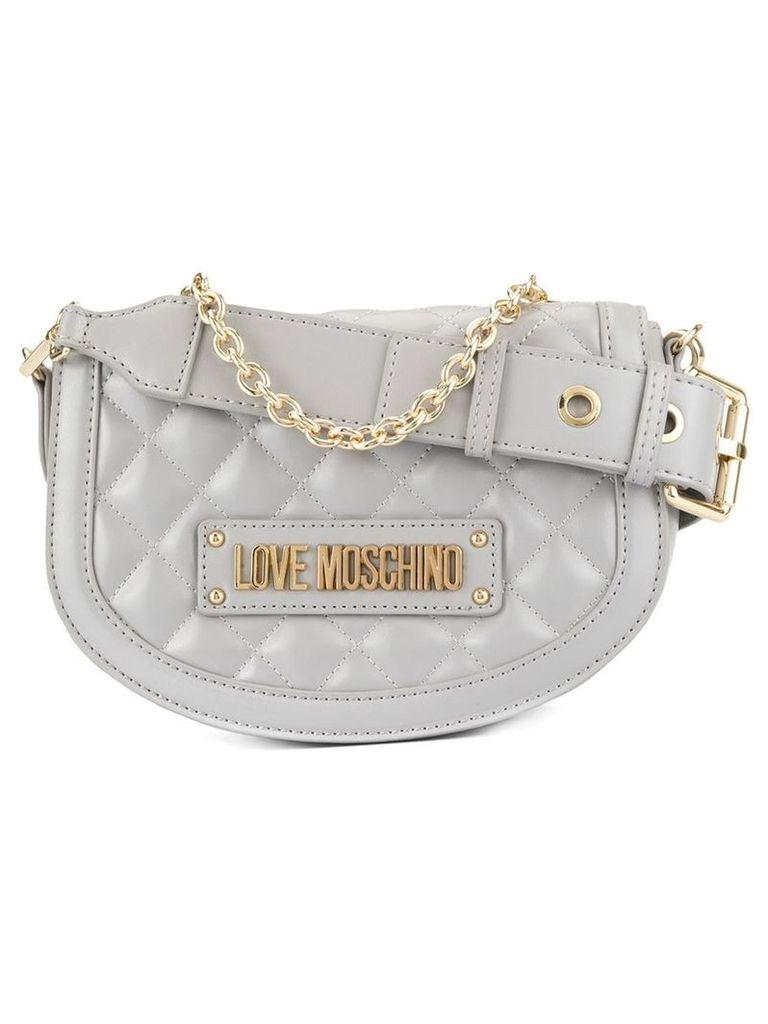 Love Moschino soft round cross body bag - Grey