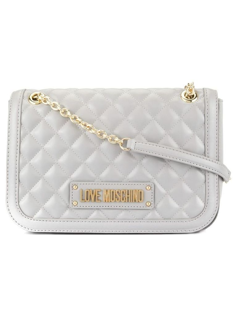 Love Moschino quilted soft shoulder bag - Grey