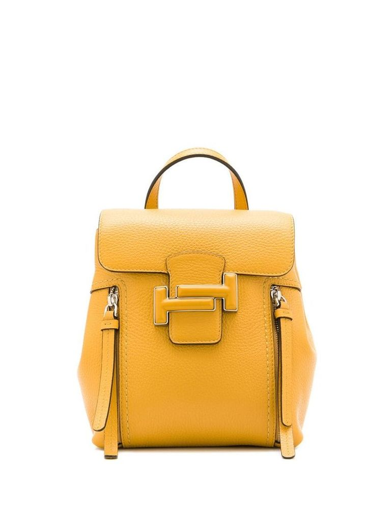 Tod's double T buckled backpack - Yellow