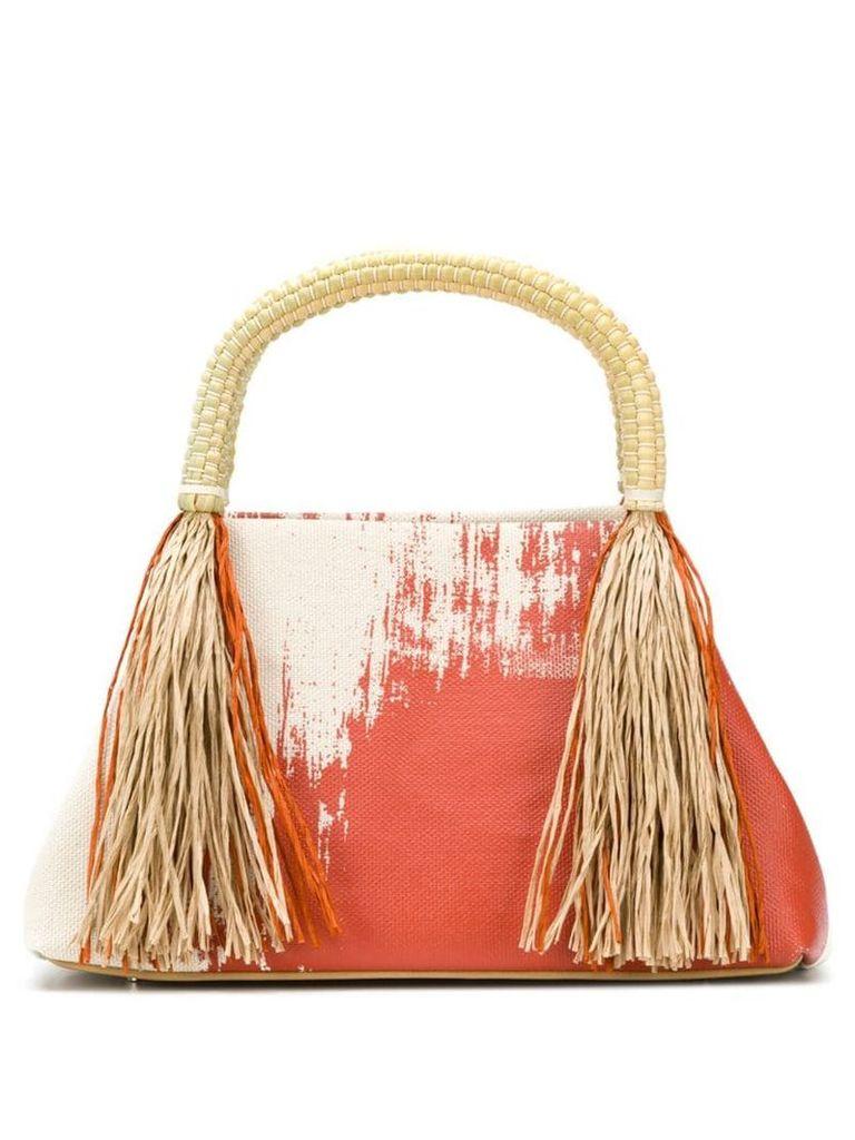 Issey Miyake tasseled tote - Red