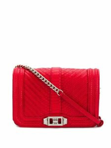 Rebecca Minkoff love rectangle satchel bag - Red