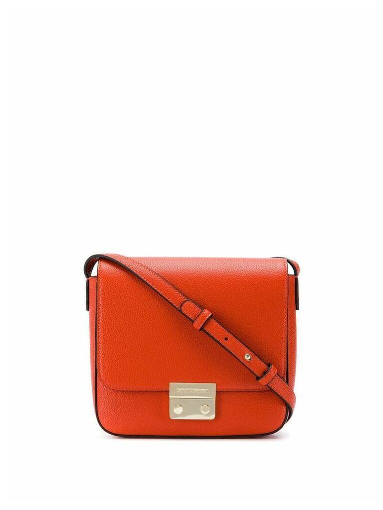 Emporio Armani push-lock cross body bag - Orange