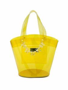 Simone Rocha Flower transparent bucket bag - Yellow