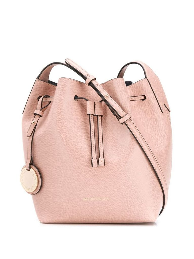 Emporio Armani drawstring bucket bag - Neutrals