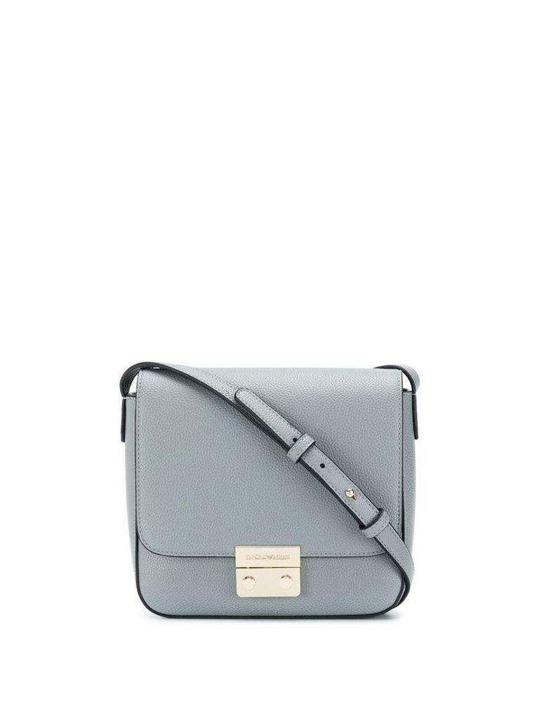Emporio Armani foldover top shoulder bag - Grey
