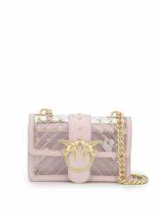 Pinko Love transparent crossbody bag