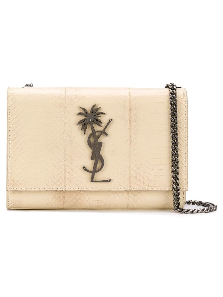 Saint Laurent small Kate bag with monogram palm tree - Neutrals