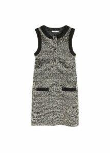 Pocket tweed dress