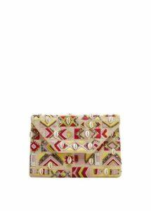 Seashell embroidery bag