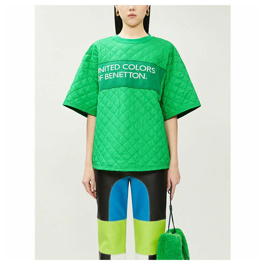 Branded oversized padded shell T-shirt