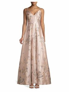 Brocade Pleated Gown