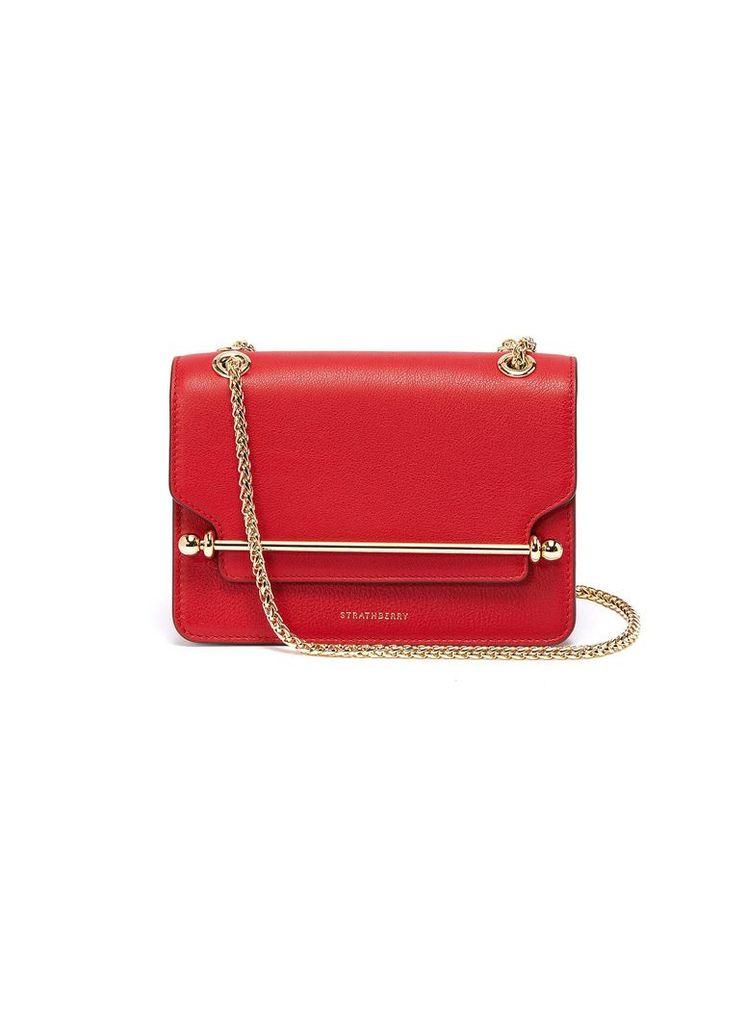 'East/West' mini leather crossbody bag