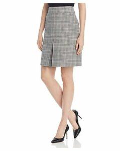 Boss Varubi Plaid A-Line Skirt