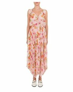 The Kooples Pleated Floral-Print Maxi Dress