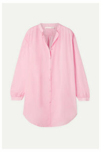 Skin - Brea Crinkled Cotton-voile Shirt - Blush