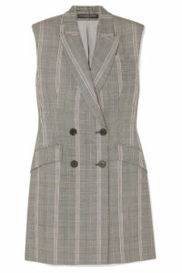 Alexander McQueen - Prince Of Wales Checked Wool Mini Dress - Gray