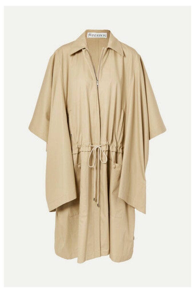 JW Anderson - Oversized Cotton-gabardine Trench Coat - Neutral