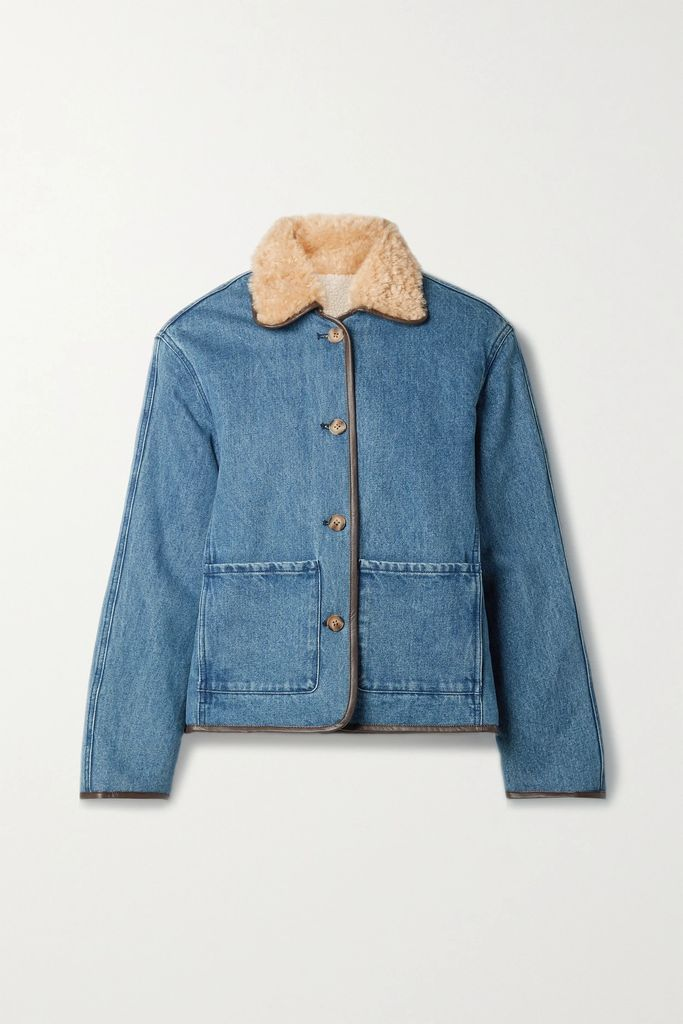 Maje - Ruffled Gingham Canvas Shirt - Black