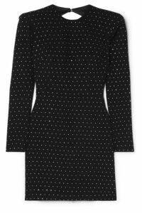 Alex Perry - Belle Open-back Crystal-embellished Crepe Mini Dress - Black
