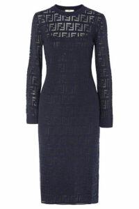 Fendi - Intarsia-knit Midi Dress - Navy