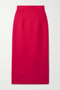 David Koma - Ruffled Satin-trimmed Cady Blazer - Black