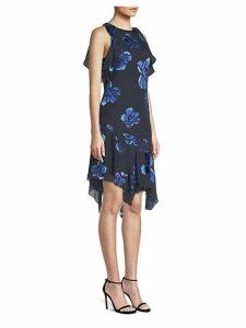 Serenity Floral Handkerchief-Hem Dress