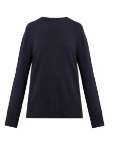 The Row - Sibel Wool Blend Sweater - Womens - Navy