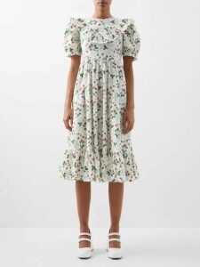 Isabel Marant - Gota Macramé Linen Dress - Womens - Black