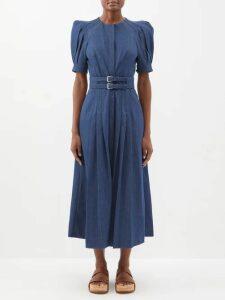 No. 21 - Tie Dye Open Back Cotton Blend Dress - Womens - Black Print