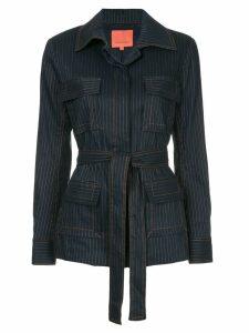Manning Cartell pinstripe belted blazer - Blue