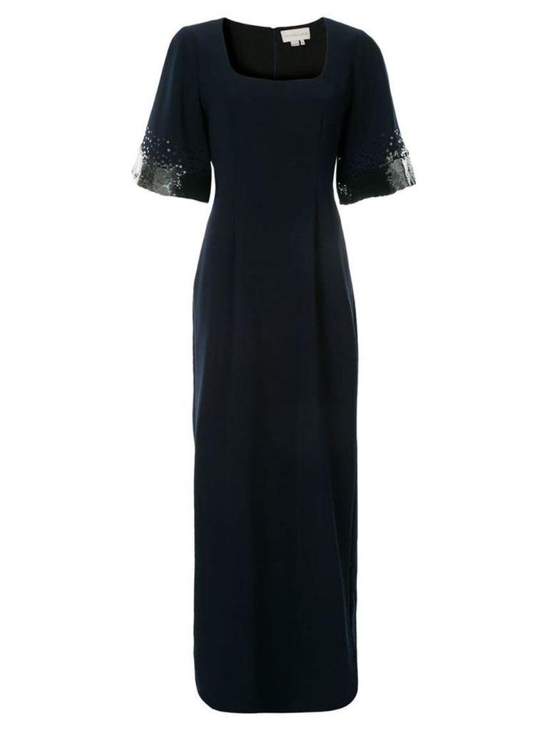 Sachin & Babi square-neck sequin dress - Blue
