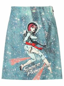 Pinko blue Space Program skirt