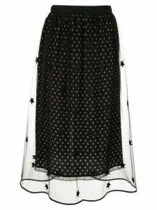 Markus Lupfer star printed mesh skirt - Black