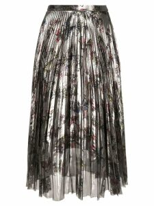 Markus Lupfer pleated floral skirt - Metallic