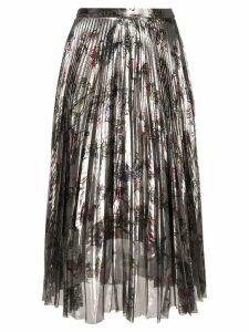 Markus Lupfer pleated floral skirt - Metallic