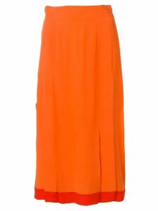 Cashmere In Love high-waisted pleated skirt - Orange