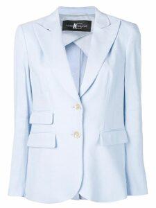 Luisa Cerano fitted blazer jacket - Blue