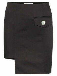George Keburia envelope pocket asymmetric mini skirt - Black