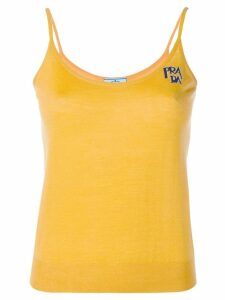 Prada intarsia knit vest - Yellow